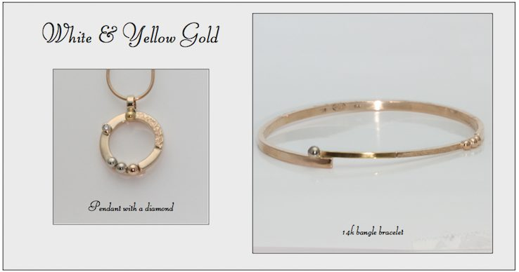 Handcrafted White & Yellow Gold Jewelry